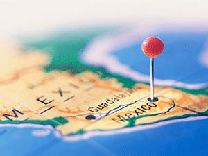 Мексика на карте
