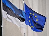 Флаги Эстонии и Евросоюза