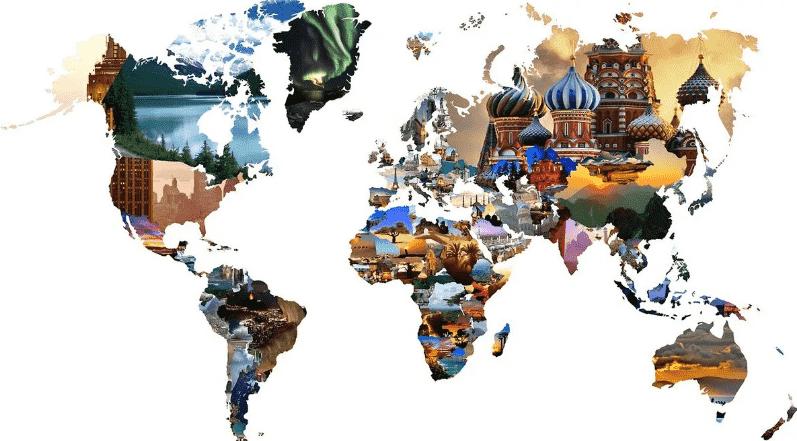 карта городов мира