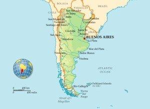 Аргентина на карте