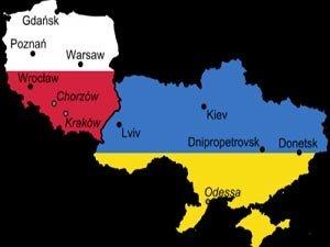 Украина и Польша на карте