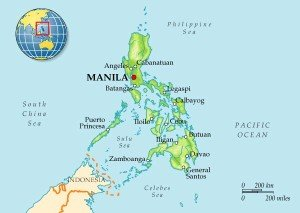Карта Филиппин