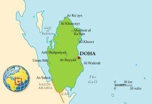 Карта Катара