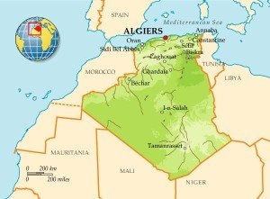 Алжир на карте