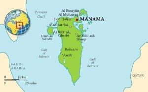 Бахрейн на карте