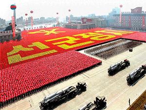 Красочные парады в КНДР