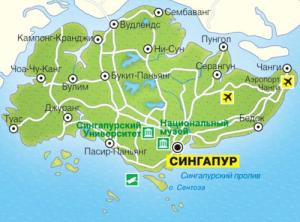Карта Сингапура