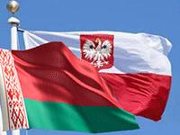 Флаги Польши и Белоруси