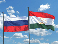 Флаг России и Таджикистана