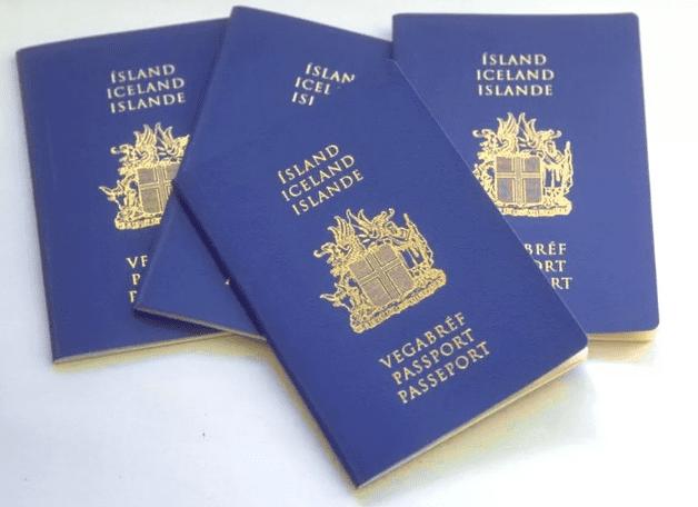 Паспорт Исландии