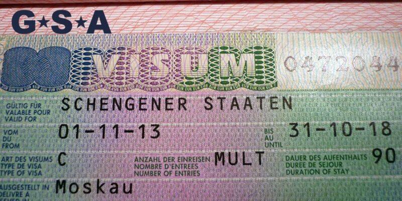 пример студенческой визы в Германию