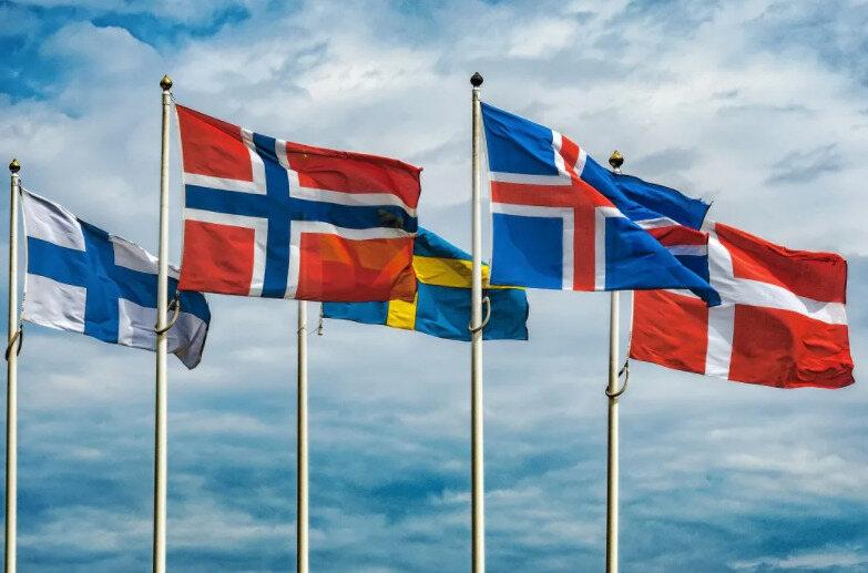 флаги скандинавских стран