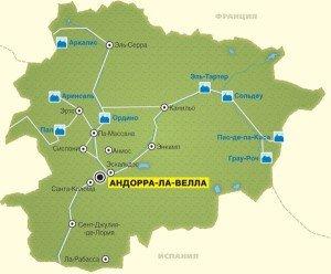 Андорра на карте