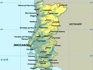 Карта Португалии