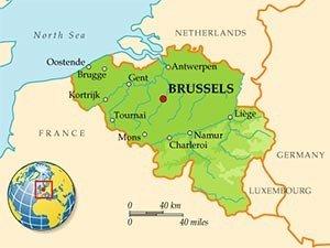 Бельгия на карте