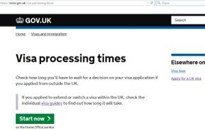 Visa processing times