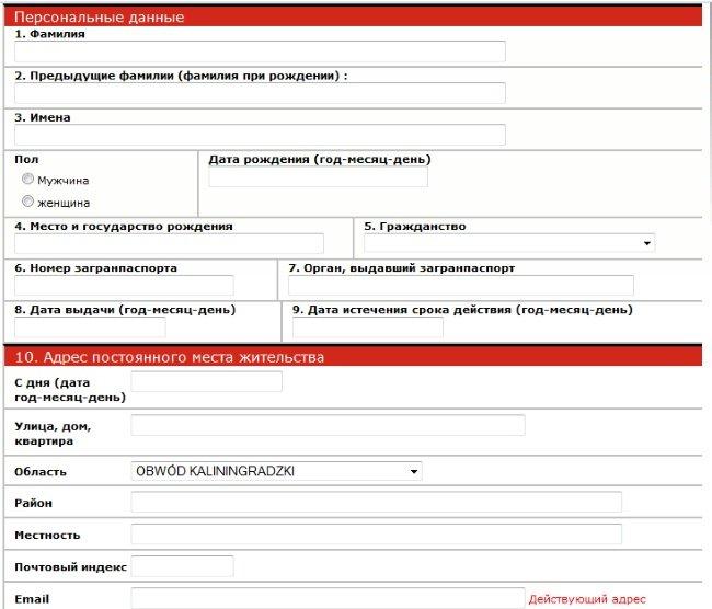 помощь в заполнении анкет на сайте знаком
