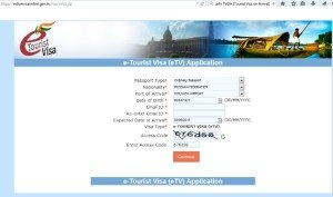 e-Tourist Visa (eTV) Application