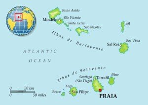 Кабо-Варде на карте