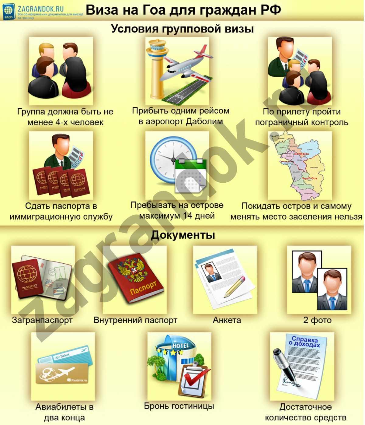 Гоа - виза для россиян по прилету в 2018 году