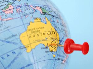 Австралия на глобусе