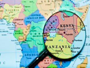 Кения на карте