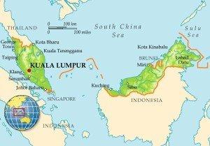 Карта Малайзии