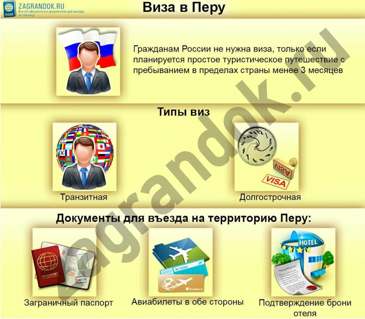 Виза в Перу для россиян в 2018 году, как получить