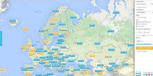 Карта низких цен на Авиасейлс