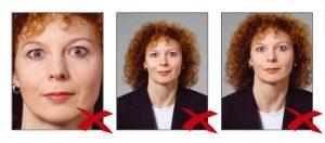 Фотографии, сделанные с нарушением требований