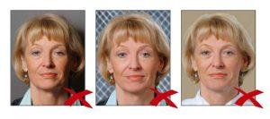 Фотографии, сделанные с нарушением требований 4