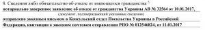 Заявление о принятии гражданства РФ: отказ от иного гражданства